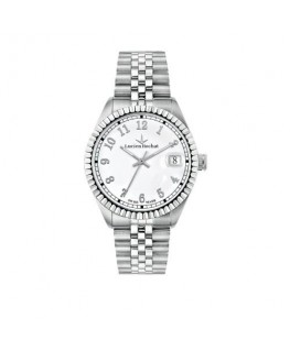 Lucien Rochat Reims gent 38mm 3h white dial ss br