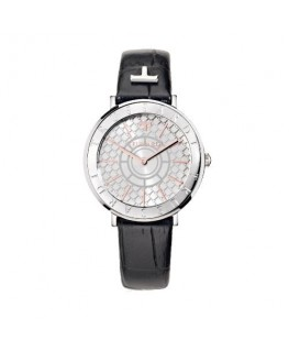 Trussardi T-vision 30mm 3h white silver dial blk s