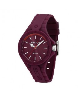 Sector Steeltouch 34mm 3h violet dial/sili st