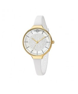 Chronostar Toffee lady 3h 30mm wht w/d dial wht sil