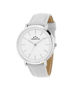 Chronostar Synthesis 38mm 2h white dial white pu st