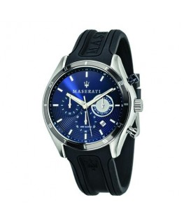 Maserati Sorpasso 45mm chr blue dial black strap