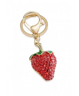 Morellato Portachiavi magic strawberry w/enamel&st