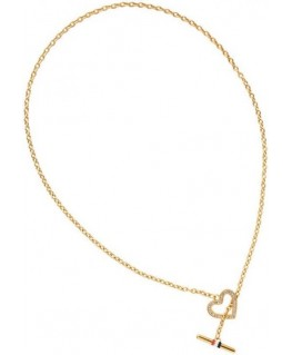 Tommy Hilfiger Open pave necklace gp