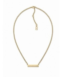 Tommy Hilfiger Thin pave plaque neck-p.gld pl-l.40.64cm