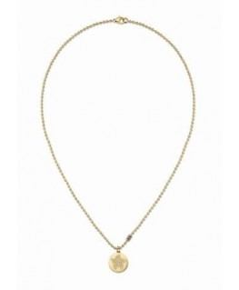 Tommy Hilfiger Starfish disc neck-gold plated-l.45.72cm