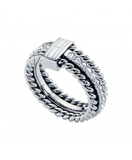 Tommy Hilfiger Rope & stone ring - 56