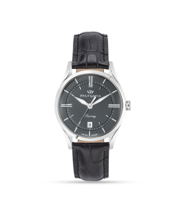 Philip Watch Sunray 39mm 3h grey dial black strap ss