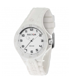 Sector Steeltouch 34mm 3h white dial/sili st