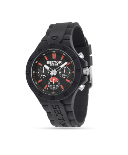 Sector Steeltouch 41mm mult blk dial/silic st