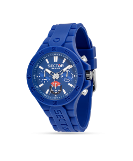 Sector Steeltouch 41mm mult blue dial/silic s