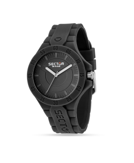 Sector Steeltouch 41mm 3h black dial/sili st