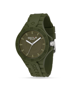 Sector Steeltouch 41mm 3h green dial/sili st