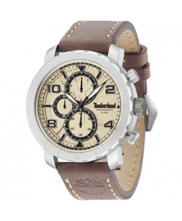 Timberland Norwood chr beige dial brown strap