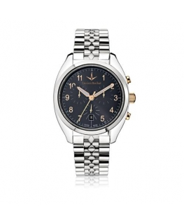 Lucien Rochat Lunel 41mm chr cool gray dial br ss