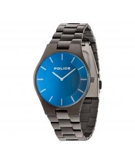 Police Splendor 2h blue dial ip gun bracelet