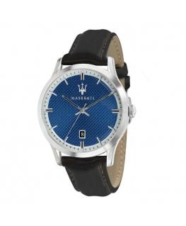 Maserati Ricordo 42mm 3h blue dial brown st