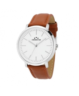 Chronostar Synthesis 38mm 2h white dial brown pu st