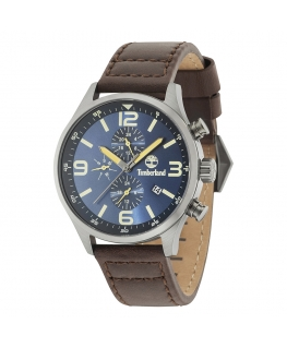 Timberland Rutherford 6h blue dial dark br strap