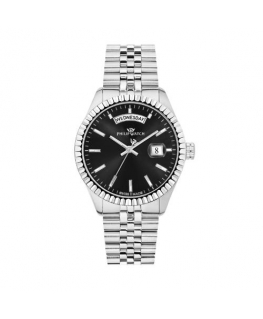 Philip Watch Caribe 39mm 3h black dial br ss