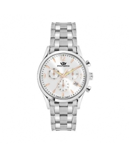 Philip Watch Sunray 39mm chr silver dial ss br