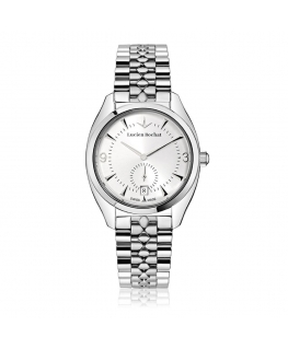 Lucien Rochat Lunel 36mm 3h w/silver dial br ss