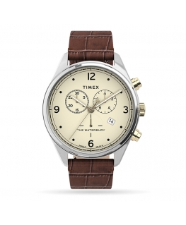 Orologio Timex Waterbury chrono pelle marrone - 42 mm