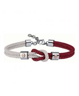 Bracciale Breil 9K rosso / bianco - 16/22 cm