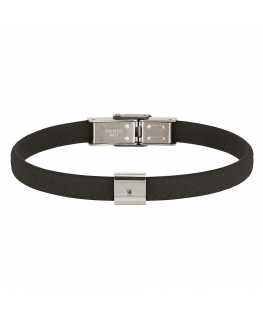 Bracciale Breil Black Diamond nero - 22 cm