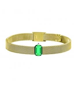 Bracciale Morellato Sensazioni dorato luce verde - 20 cm