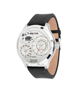 Orologio Sector Traveller dual time silver - 48 mm