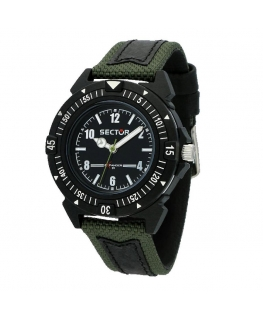 Sector Expander 90 40mm 3h blk dial green st uomo R3251197059