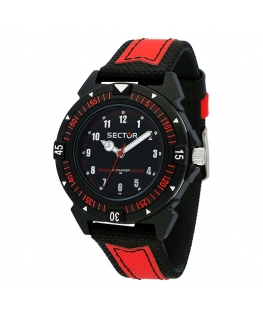 Sector Expander 90 40mm 3h black dial red st uomo R3251197060