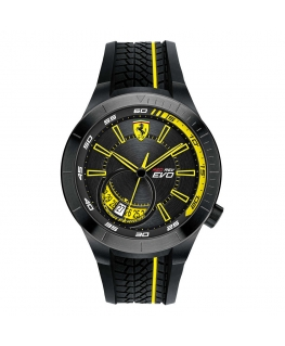 Orologio Ferrari Redrev evo data nero - 44 mm