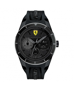 Orologio Ferrari RedRev multi total black - 44 mm