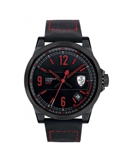 Orologio Ferrari Formula Italia data nero - 46 mm