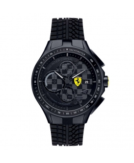 Orologio Ferrari Race crono total black - 44 mm