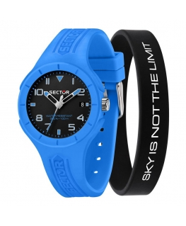 Sector Speed touch 37mm 3h blk dial l.blu sil s maschile