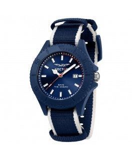 Sector Save the ocean 43mm 3h blue dia blu+wh s maschile