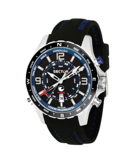 Sector Surfing watch 46mm blk dial blk silicone uomo R3251506001