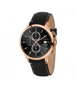 Maserati Gentleman 43mm chr black dial blk s uomo R8871636003