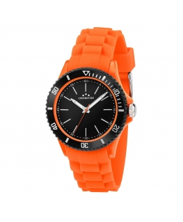 Chronostar Rocket 40mm 3h blk dial orange silicon s
