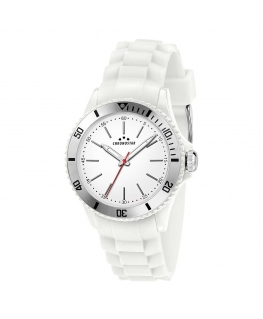 Chronostar Rocket 40mm 3h white dial wht silicon st
