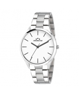 Chronostar Sky 42mm 3h white dial br ss