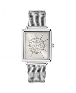 Trussardi T-princess 25mm 2h silver dial ss mesh