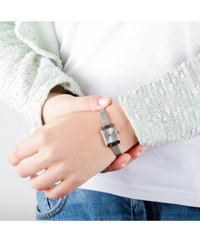 Morellato Sensazioni 17x26mm 2h silver dial mesh s donna - galleria 2