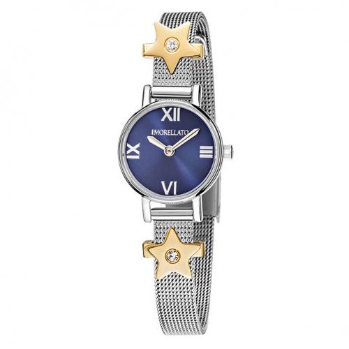 Morellato Tesori 20mm 2h blue dial br ss 2 bead donna