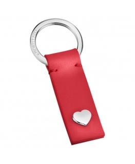 Morellato Portachiavi red leather heart