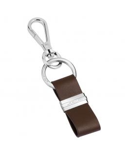 Morellato Portachiavi dark brown leather with tag uomo SU0630