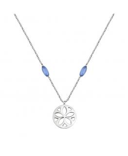 Morellato Fiore pend. element cat eye blue 40+5cm femminile